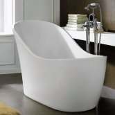Synergy Mardi Gras Single Ended Freestanding Slipper Bath 1700mm x 720mm - 0 Tap Hole