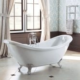 Synergy Marlow Double Ended Freestanding Slipper Bath 1750mm x 730mm - 0 Tap Hole