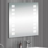 Synergy Monza LED Illuminated Bathroom Mirror with Demister Pad 600mm H x 600mm W