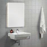 Synergy Padua Bathroom Mirror with Demister Pad 800mm H x 600mm W