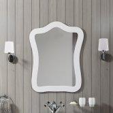 Synergy Paris Bathroom Mirror 750mm H x 600mm W - Gloss White