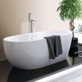Synergy San Marlo Double Ended Freestanding Bath 1555mm x 745mm White - 0 Tap Hole