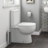 Synergy Tilly Back To Wall Close Coupled Toilet with Push Button Cistern - Soft Close Seat