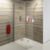 Synergy Vodas 10 Wet Room Screen 1000mm Wide - 10mm Glass
