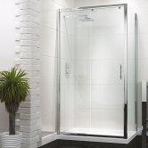 Synergy Vodas 6 Framed Single Sliding Shower Door 1300mm Wide - 6mm Glass