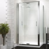 Synergy Vodas 6 Framed Bi-Fold Shower Door 800mm Wide - 6mm Glass