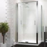 Synergy Vodas 6 Framed Bi-Fold Shower Door 900mm Wide - 6mm Glass