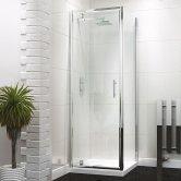 Synergy Vodas 6 Framed Pivot Shower Door 700mm Wide - 6mm Glass