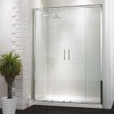 Synergy Vodas 6 Framed Double Sliding Shower Door 1400mm Wide - 6mm Glass