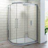 Synergy Vodas 6 Framed Double Door Offset Quadrant Shower Enclosure 1000mm x 800mm - 6mm Glass