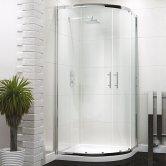 Synergy Vodas 6 Framed Double Door Quadrant Shower Enclosure 800mm x 800mm - 6mm Glass
