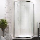 Synergy Vodas 6 Framed Single Door Quadrant Shower Enclosure 900mm x 900mm - 6mm Glass