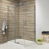 Synergy Vodas 8 Frameless Sliding Shower Door 1300mm Wide - 8mm Glass