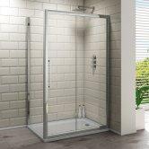 Synergy Vodas 8 Framed Sliding Shower Door 1000mm Wide - 8mm Glass