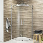 Synergy Vodas 8 Frameless Double Door Quadrant Shower Enclosure 800mm x 800mm - 8mm Glass
