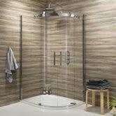 Synergy Vodas 8 Frameless Double Door Offset Quadrant Shower Enclosure 1000mm x 800mm - 8mm Glass