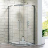 Synergy Vodas 8 Framed Double Door Quadrant Shower Enclosure 800mm x 800mm - 8mm Glass
