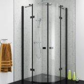 Synergy Vodas 8 Stella Black Profile Quadrant Shower Enclosure 800mm x 800mm - 8mm Glass