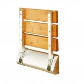 Synergy Vodas Wooden Shower Seat - Brown