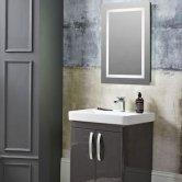 Tavistock Clarion Illuminated LED Bathroom Mirror with Bluetooth 700mm H x 500mm W