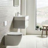 Tavistock Orbit Wall Hung Toilet WC 510mm Projection - Soft Close Seat
