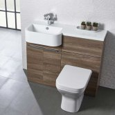 Tavistock Match Left Handed Combination Unit With Basin 1000mm W Havana Oak
