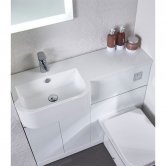 Tavistock Match Left Handed Combination Unit with Basin 1000mm W White