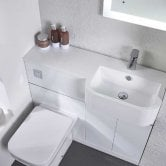 Tavistock Match Right Handed Combination Unit With Basin 1000mm W White