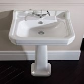 Tavistock Vitoria Basin & Full Pedestal 605mm Wide 1 Tap Hole