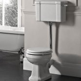 Tavistock Vitoria Low Level Toilet WC Lever Cistern Solid Wood Seat