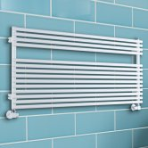 TRC BDO Sitar Heated Towel Rail 543mm H x 1220mm W - White
