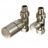 TRC Ideal TRV Straight Valve Pair, Chrome