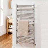 TRC Poll Heated Towel Rail 530mm H x 450mm W - Chrome