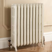 TRC Trieste 2 Column Radiator 661mm High x 784mm Wide - 10 Sections - Primer