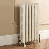 TRC Trieste 2 Column Radiator 661mm High x 480mm Wide - 6 Sections - Primer