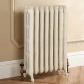 TRC Trieste 2 Column Radiator 661mm High x 632mm Wide - 8 Sections - Primer