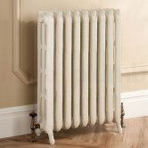 TRC Trieste 2 Column Radiator 661mm High x 708mm Wide - 9 Sections - Primer