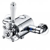 Trisen Formby Thermostatic Exposed Shower Valve Dual Handle - Chrome