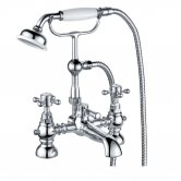 Trisen Formby Bath Shower Mixer Tap with Shower Kit Deck Mounted - Chrome
