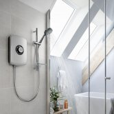 Triton Amore Electric Shower 8.5kw - Brushed Steel
