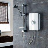 Triton Aspirante Electric Shower 8.5 kW - White Gloss