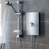 Triton Aspirante Electric Shower 9.5 kW - Brushed Steel