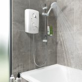 Triton T80 Pro-Fit Electric Shower 8.5 kW - White/Chrome
