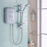 Triton T80Z Fast-Fit Eco Electric Shower 8.5 kW - White/Chrome