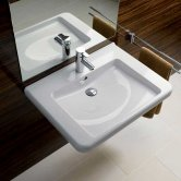 Twyford All Washbasin & Semi Pedestal 600mm Wide 1 Tap Hole