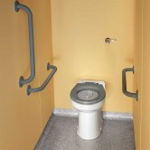 Twyford Doc M Rimless Ambulant Pack With BTW Disabled Toilet - Grey