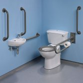 Twyford Doc M Value Pack with Close Coupled Disabled Toilet - Grey