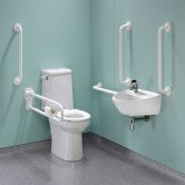 Twyford Doc M Super Pack with Rimless Disabled Toilet Left Handed - White