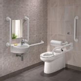 Twyford Doc M Rimless Pack With BTW Disabled Toilet Right Handed - White