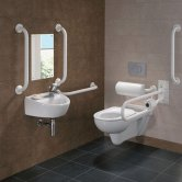 Twyford Doc M Rimless Pack With Wall Hung Disabled Toilet Right Handed - White